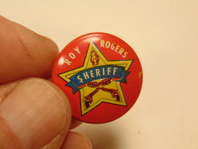 "Vintage 1953 Roy Rogers ""Sheriff"" pin: Post Grape Nut flakes cereal premium"