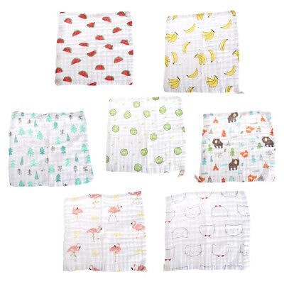 Baby 6Layer Handkerchief Square Towel Muslin Cotton Infant Face Towel Wipe Cloth