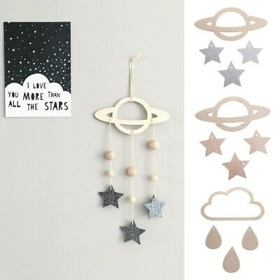 Baby DIY Wall Mobile Outer Space Theme Planets Decor Nursery Hanging Bedroom