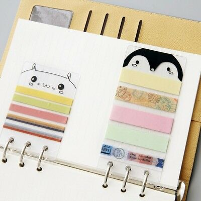 A5/A6 Washi Tape Sheet PVC Planner Dividers Subpackage Plate For Spiral Notebook