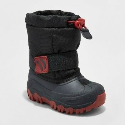 NEW Cat & Jack Toddler Boys' Jacob Winter Boots - Black - Size:M(7-8)
