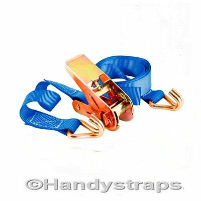 Ratchet Straps Tie Down 5m x 25mm 800kg Lorry Lashing Trailer Handy Straps