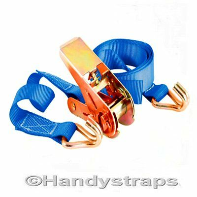 60 x 25mm x 5 Meter 800kg Ratchet Tie Down Straps Lashing Trailer Handy Straps