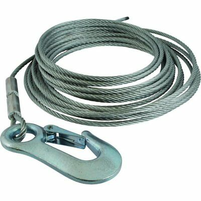 1.6 ton Wire Winch Cable with Winch Hook 4mm x 15 Meter