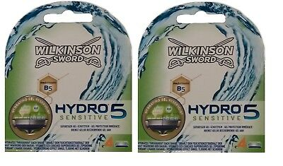 8 Wilkinson Sword Hydro 5 Sensitive Aloe Rasierklingen 2 x 4er Pack = 8 Stk.