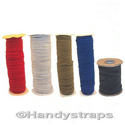 Rolls of 6mm  Elastic Bungee Shock Cord Rope  Red, White ,Blue Handy Straps