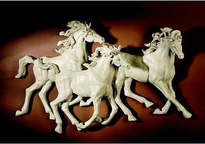 Wild Horses Wall Sculpture Spanish Stallions Horse Plaque NEW