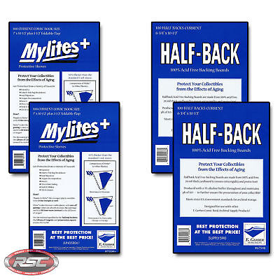200 - E. GERBER HALF-BACK & MYLITES+ CURRENT Mylar Bags & Boards! 675HB/700M+