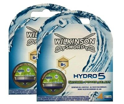 8 Wilkinson Sword Hydro 5 Groomer Power Select Rasierklingen 2 x 4er Pack