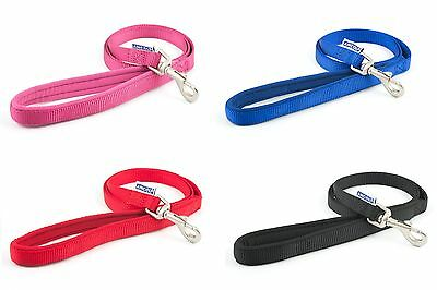 Ancol Nylon Padded  Dog Leads with PADDED HANDLE