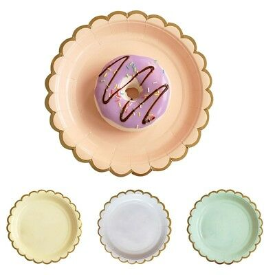 Pop Disposable Paper Plates Cake Food Round Dish Party Catering Tableware 8PCS
