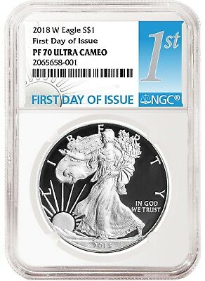 2018 W Silver Eagle Proof NGC PF70 Ultra Cameo - First Day Issue