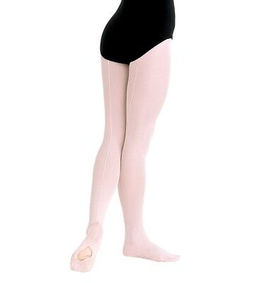 Body Wrappers TotalSTRETCH Girls' Mesh Backseam Convertible Tights - C45