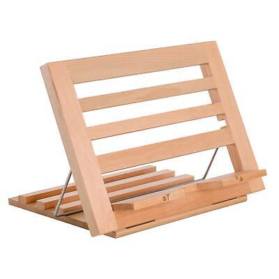 U.S. Art Supply Wooden Adjustable Table Easel, Cookbook Stand, Text Book Rest