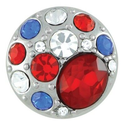 Buy 4, Get 5Th $6.95 Snap Free Ginger Snaps™ Jewelry Brooch - Red, White & Blue