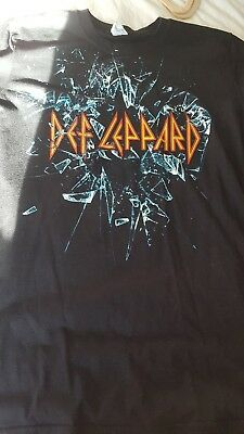 Def leppard Official Tour T Shirt. Medium