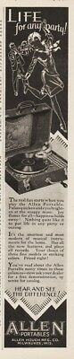 1928 Allen Hough Portable Record Player Ad Racine WI Life For Any Party Art