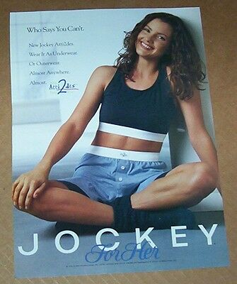 1994 print ad page -Jockey for Her underwear sports bra girl Vintage Advertising