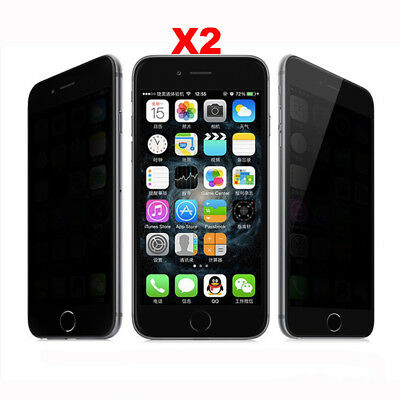 Privacy Anti-Spy Tempered Glass Screen Protector Shield for iPhone X 5 6 7 8Plus