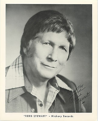Rare Redd Stewart Autographed Promo Photo - 8 x 10 - Hickory Records