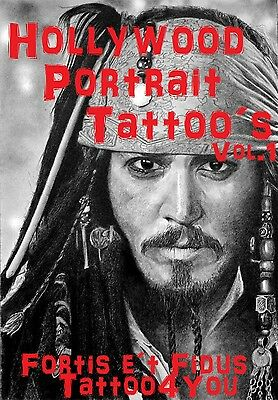 Tattoovorlagen Hollywood Portrait   Cd  Dvd Top NEU 2016 Flash Buch +Bonus %