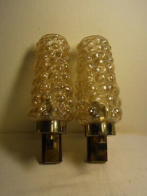 Pair Mid Century 70´s Bubble Glass Sconces Helen Tynell Style #O/I