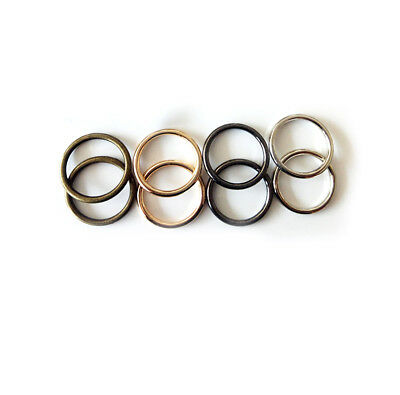 Solid O Rings Closed Metal Round For Webbing Leather Bags Collars Crafts 21/25mm