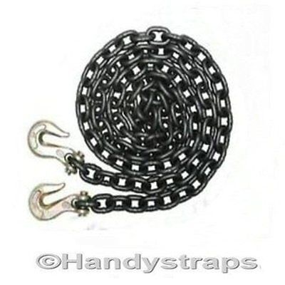 Recovery Towing Chain 8mm 4 meter Vehicle Hook Lifting Handy Straps