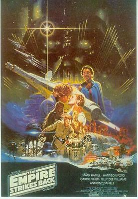 Star Wars Postcard # 37 (The Empire Strikes Back Film Poster repro) (USA, 1991)