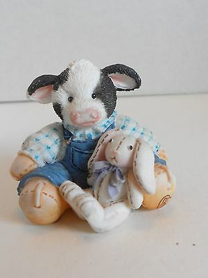 Mary's Moo Moos SOME BUNNY LOVES MOO Cow & Rabbit #104914 MINI****