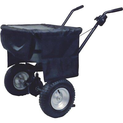 Precision Covered Broadcast Push Salt / Ice Melt Spreader 100-lb Capacity