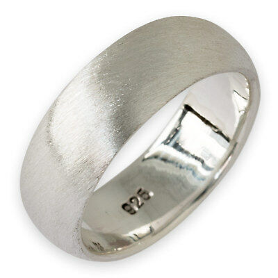 Band Ring 925 Sterling Silber Damen Herren Verlobungsring (4-10mm) risi002_matt