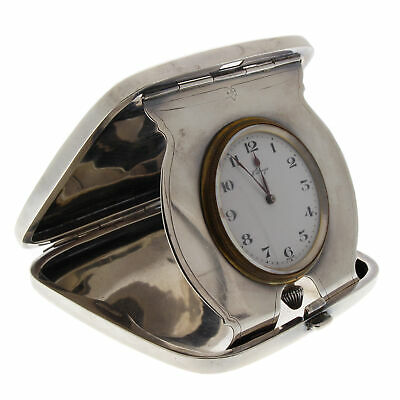 Concord 8 Day Travel Clock in Gorham Sterling Art Deco Case