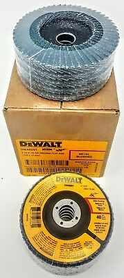 "(Box of 10)  Dewalt DWA8201 4"" x 5/8"" 40g type 29 Flap Discs"