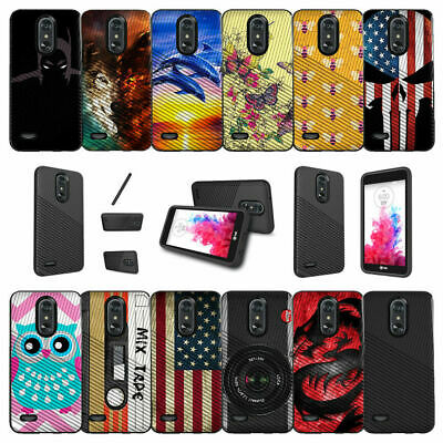 For LG Aristo 2 | Fortune 2 | Tribute Dynasty (2018) Shockproof Dual Layer Case