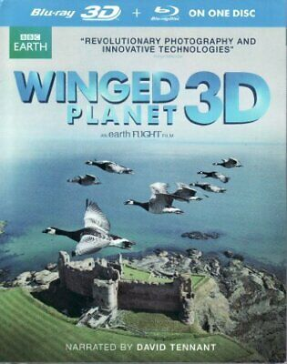 BBC Earth Winged Planet Blu-ray 3D + Blu-ray On One Disc [DVD] NEW!