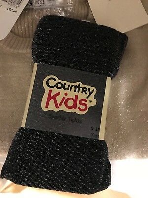 Country Kids Sparkly Tights Age 9-11 Rrp £12.99 Bnwt