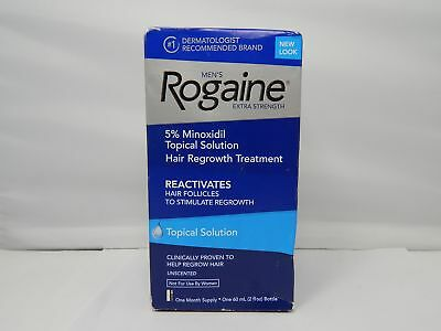 Rogaine For Men Hair Regrowth Treatment Tropical Solution 60ml/2fl.oz.NEW SEALED