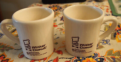 Vintage set of 2 Mister Donut Mugs  Excellent condition