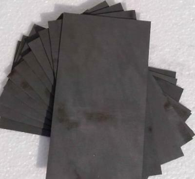 US Stock 10pcs 2*40*50mm 99.99% Pure Graphite Electrode Rectangle Plate Sheet