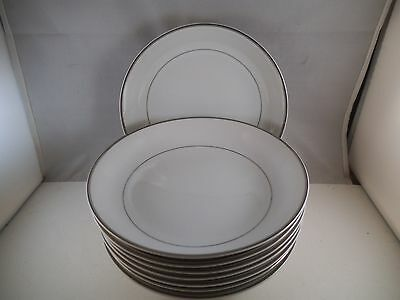 Fashion Manor Prelude Made in Japan Set of 8 Coupe Soup Bowls Platinum Rim