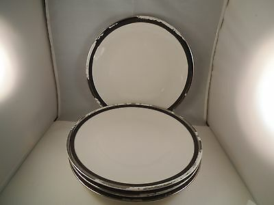 Shenango Heirloom Collection Midnight Halo Set of 4 Dinner Plates