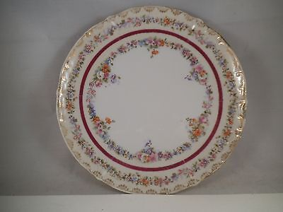 Vintage Made in Germany KPM Salad Plate Pink White Flowers