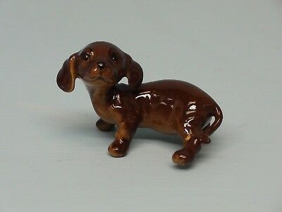 Old Monrovia Hagen Renaker DW Dachshund Dog Puppy Dutch Repaired