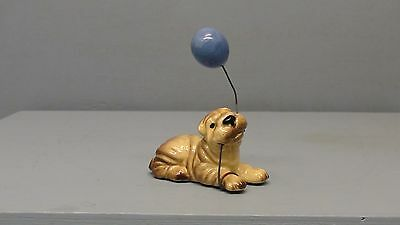 Retired Hagen Renaker Shar Pei With Balloon