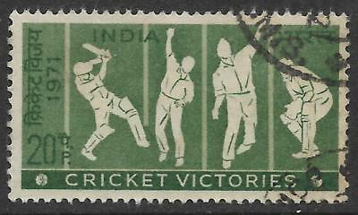 INDIA 1971 TEST CRICKET VICTORIES 1v Fine Used (No 4)