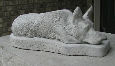 Concrete German Shepherd Statue Or Use As A Memorial,,,,grave Marker