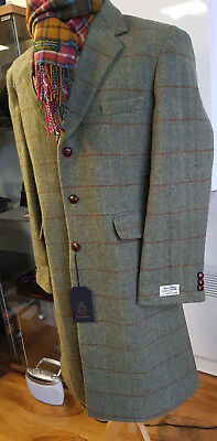 Harris Tweed Orinsay  Crombie Style Coat Official Stockist £299 4 £199