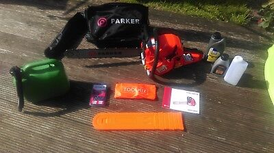 """58CC 20"""" PETROL CHAINSAW + 2 x CHAINS - FREE CARRY CASE - BAR COVER - TOOL KIT"""