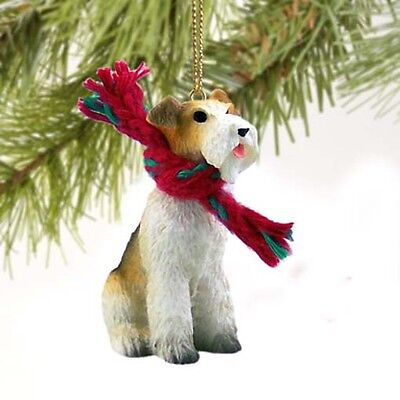 Wirehaired Fox Terrier Dog Tiny One Miniature Christmas Holiday ORNAMENT